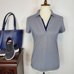 Izod Golf Shirt Short Sleeve Split Neck Collar, S